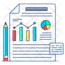 Business Report Analytical Report Business Assessment Icon