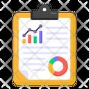 Descriptive Data Statistics Report Analytics Report Icon