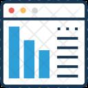 Analytics Bar Seo Icon