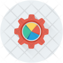 Analytics Cog Gear Icon