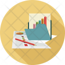Analytics Folder Graph Icon