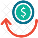 Analytics Dollar Growth Icon