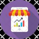 Analytics Graph Mobile Icon