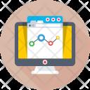 Analytics Online Graph Icon
