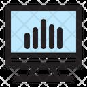 Analytics Chart Monitor Icon
