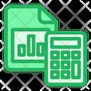 Claculator Graph Calculating Icon