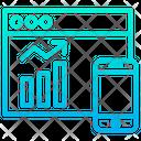 Statistics Online Analytics Online Analysis Icon