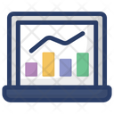 Business Graph Statistics Business Growth Icon