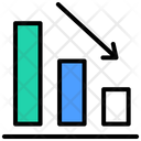 Analytics Bar Graph Down Graph Icon
