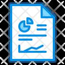Analytics Document Sales Report Icon