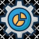 Analytics Cog Cogwheel Icon