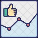 Analytics Statistics Like Icon
