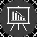 Analytics Business Performance Line Graph Icon