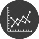 Analytics Data Visualization Line Chart Icon