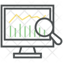 Analytics Search Chart Icon