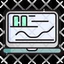 Analytics Laptop Graph Icon