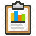 Analytics Chart Clipboard Icon