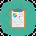 Analytics Charts Clipboard Icon
