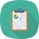 Analytics Charts Clipboard Icon