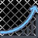 Analytics Sales Growth Icon