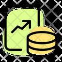 Analytics Chart Line Chart Database Icon