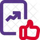 Analytics Chart Like Growth Report Like Like Growth Icon