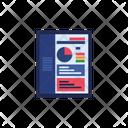 Analytics chart report office Icon