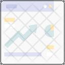 Analytics Growth Website Up Icon