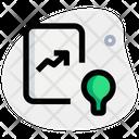 Analytics Idea Growth Idea Analytics Report Icon