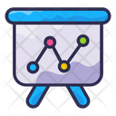 Graph Analytics Business Icon