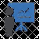 Analytics Presentation Presentation Graph Icon