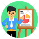 Business Lecture Business Presentation Business Chart Icon