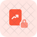 Analytics Report Lock Analytics Lock Growth Icon