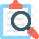 Analyze Magnifier Clipboard Icon
