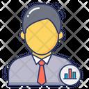 Analyzer Employee Bar Icon