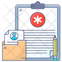 Medical Folder Anamnesis Medical File Icon
