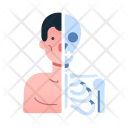 Anatomy Human Robot Icon