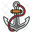 Anchor Sea Nautical Navy Equipment Icon