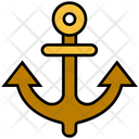 Summer Anchor Navy Icon