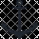 Anchor Seashore Seaside Icon