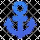 Anchor Sail Ship Icon