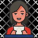 Anchorwoman Journalist Reporter Icon