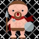 Ancient Roman Man Icon