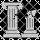 Ancient Ruins Ruins Greek Icon