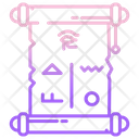Ancient Scroll Message Scroll Message Icon