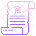 Ancient Scroll Message Scroll Scroll Icon
