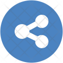 Blue Network Sharing Icon