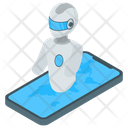 Android Phone Robot Robot Technology Artificial Intelligence Icon