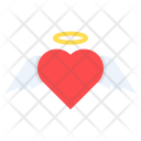 Angel Cupid Heart Icon