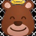 Angel Emoji Sticker Icon